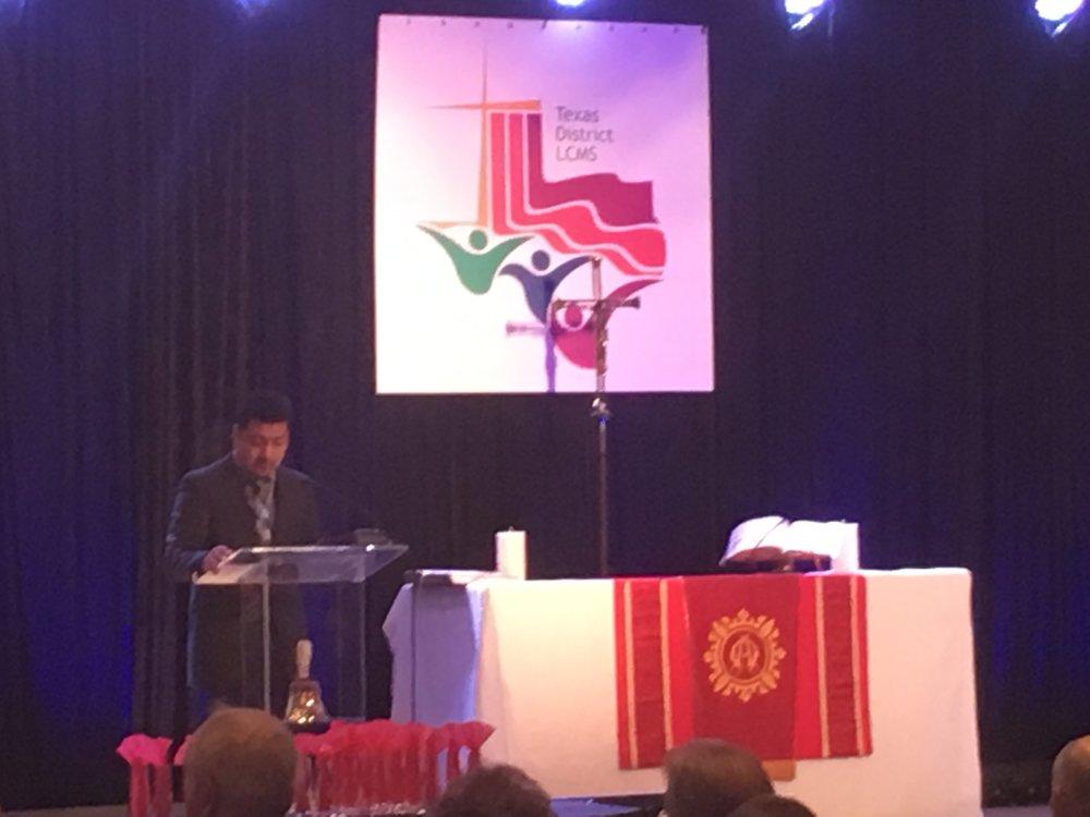 Pastor Juan and Pastor Chris Lead Morning Devotions