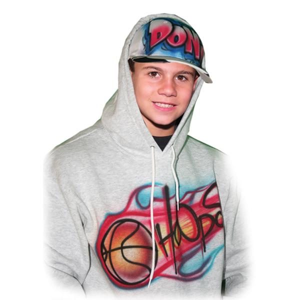 airbrushed hoodie