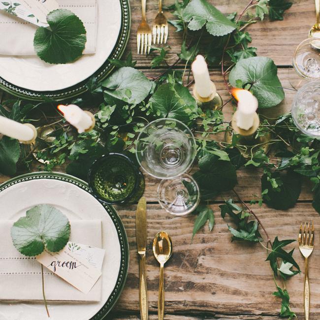 Green + White Botanical