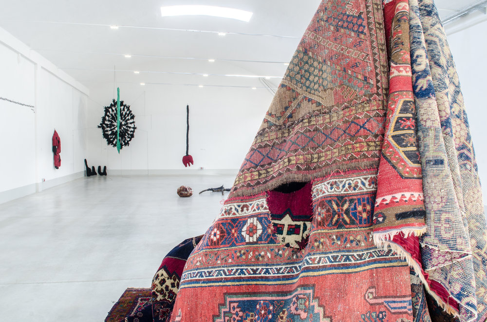 Me giardino , Persian carpets, 2017. Photo: Rachele Salvioli
