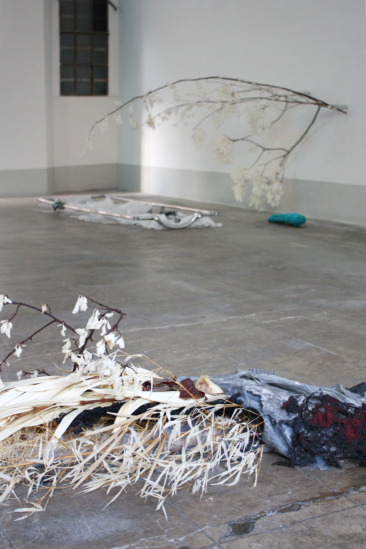 Generous Images Unable to Reach    Installation view, Lottozero textile laboratories, Prato, 2018    Photo: Luca Vanello