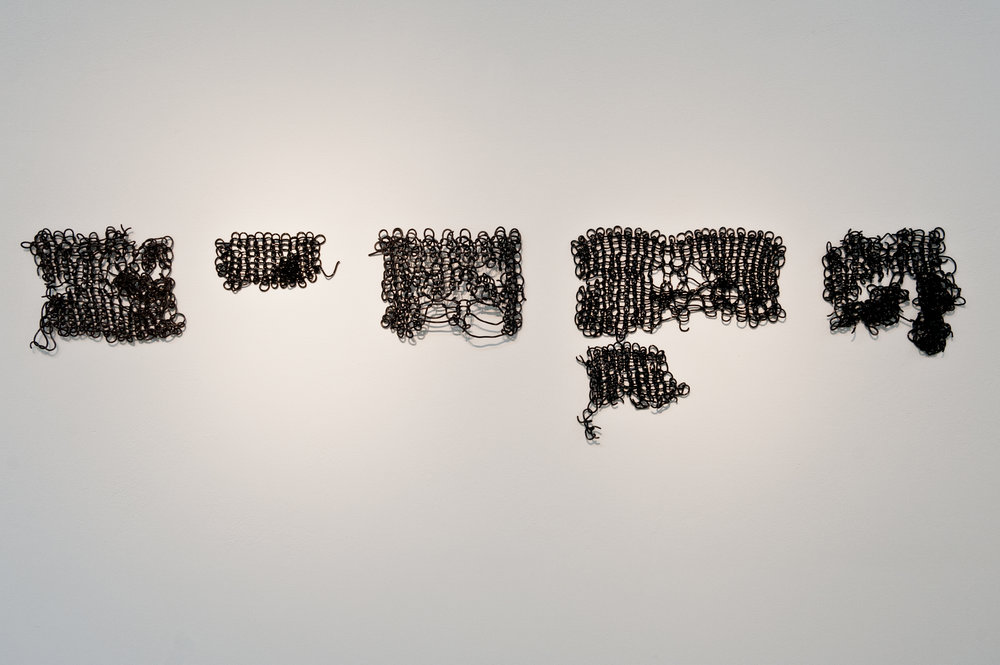 Disrupted systems , knitted black porcelain, 2011. Photo: Claudia Corrent