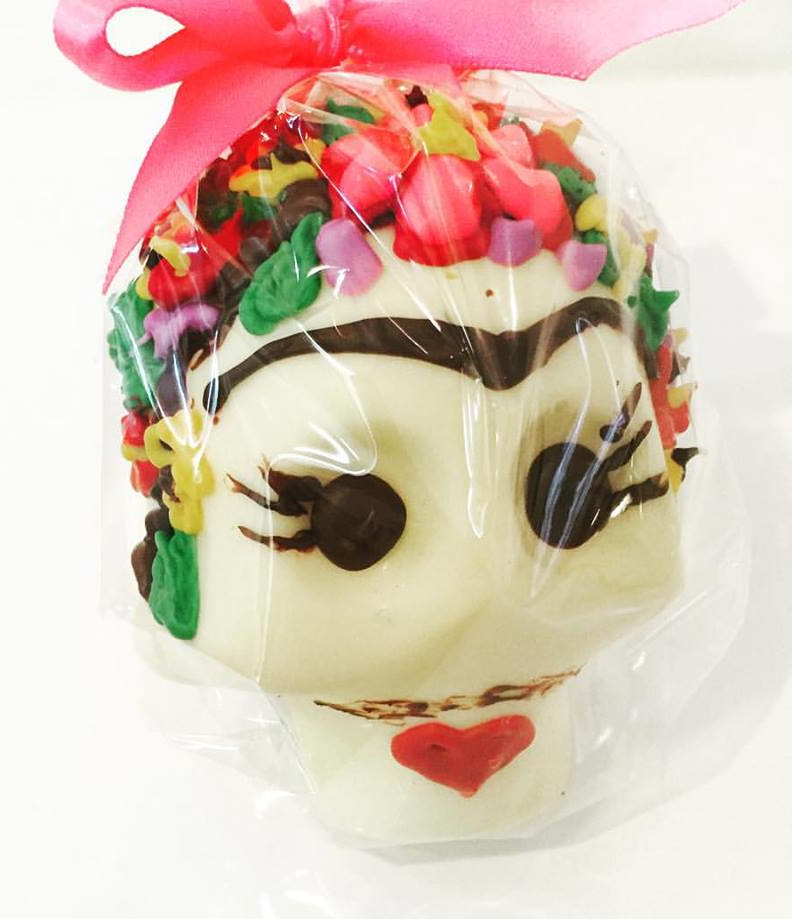 Frida inspired chocolate skull