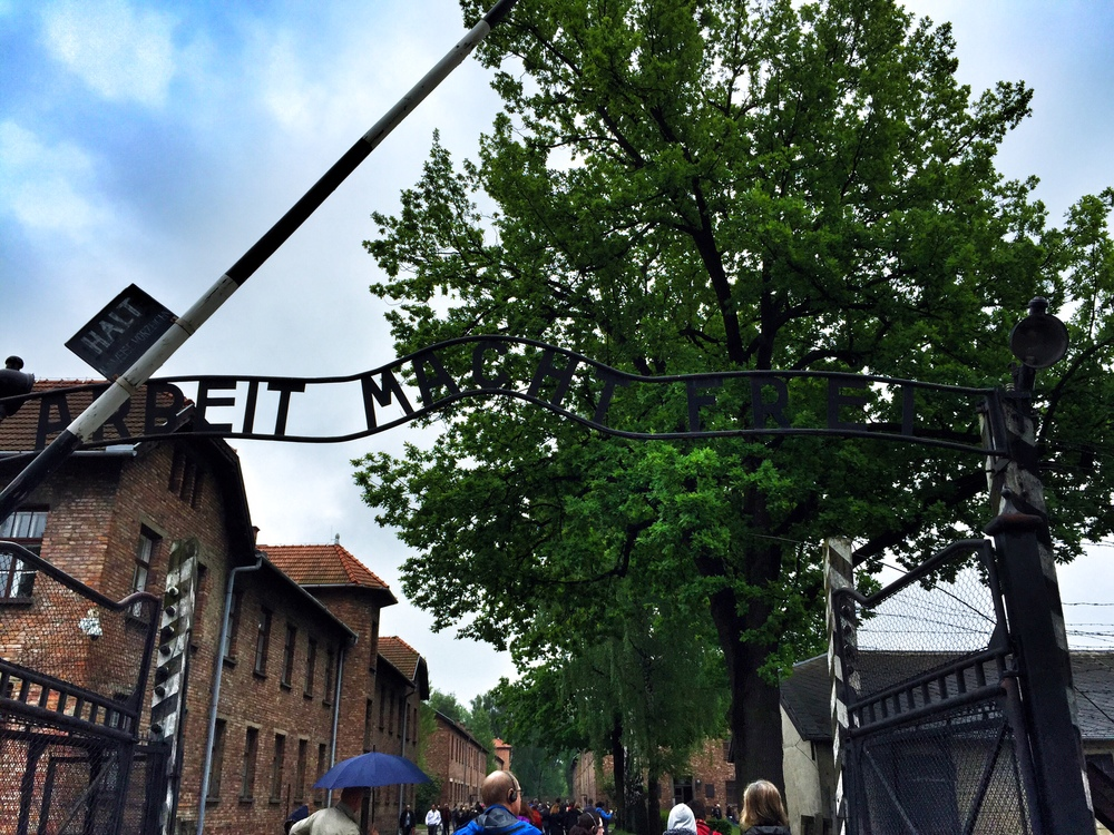 Entering Auschwitz 1 Camp