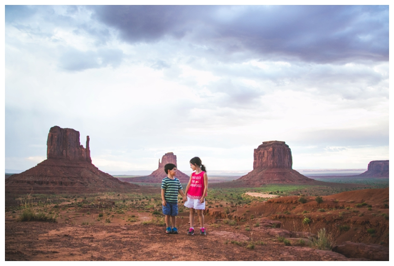 monument valley with children