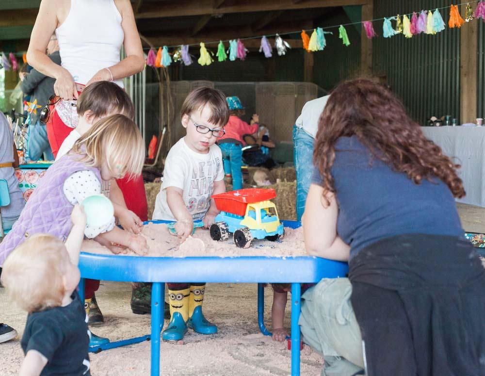 children's sand pit rebecca lindon