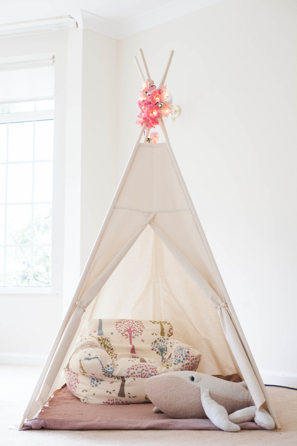 Cotton canvas teepee from LittleMe Teepee.