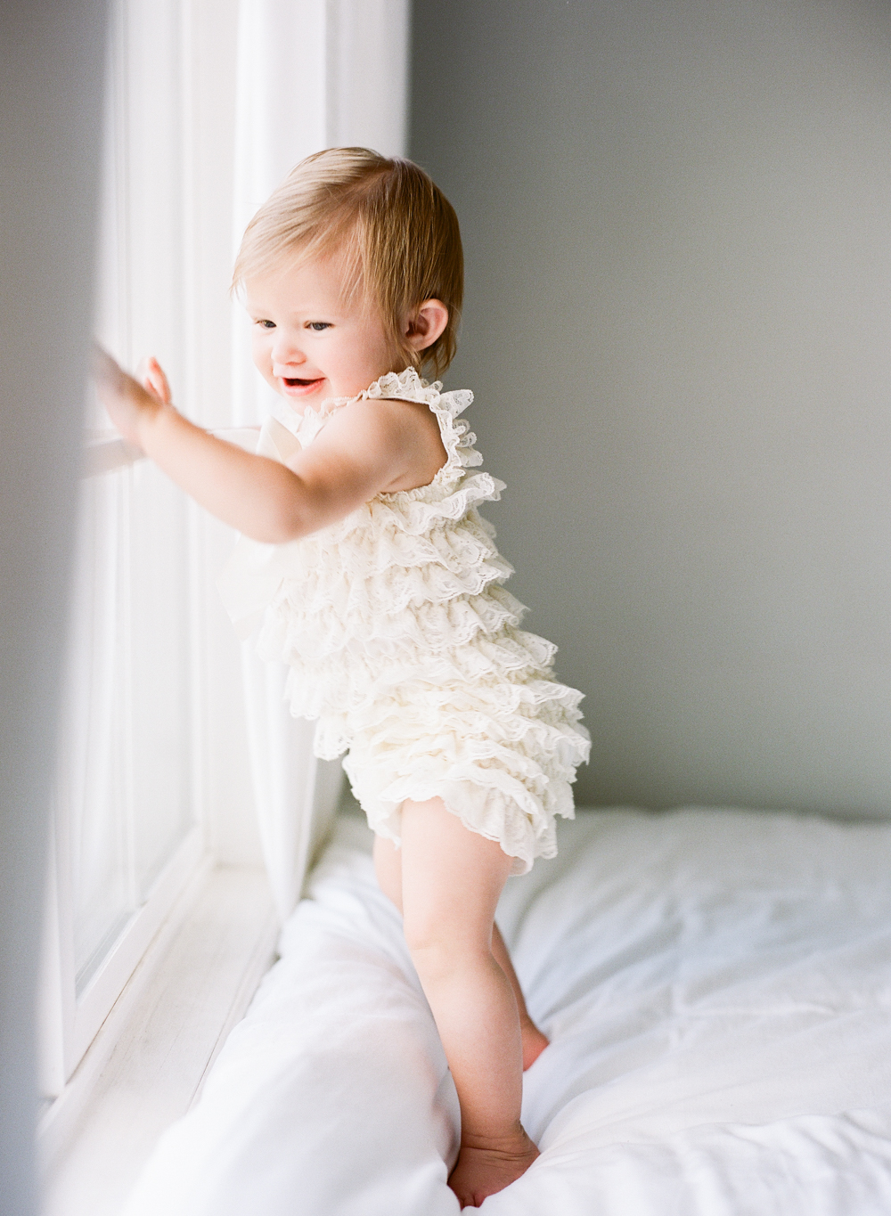 Ruffle Romper by  Lilly Bow Peep .