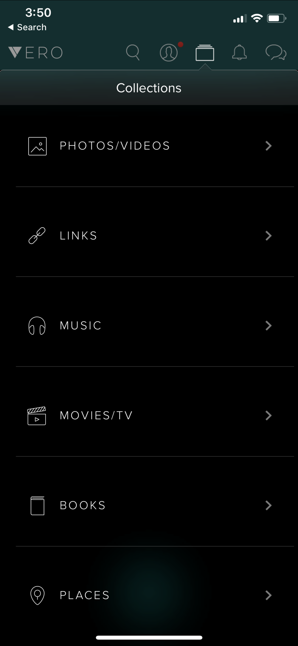 Vero App Collections