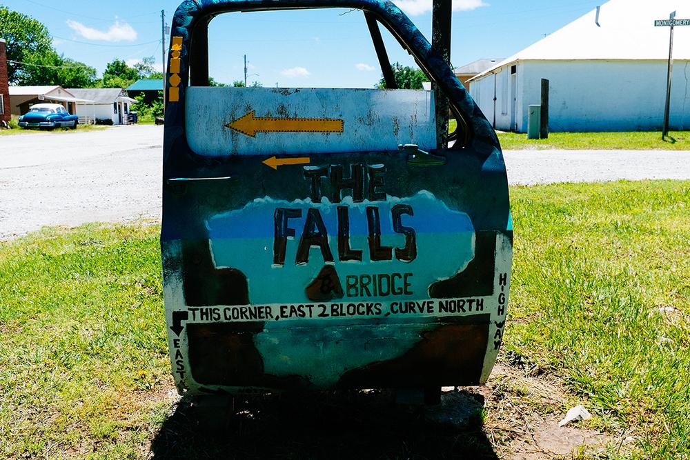"""A painted car door leads you to Elk Falls."" - Royce"