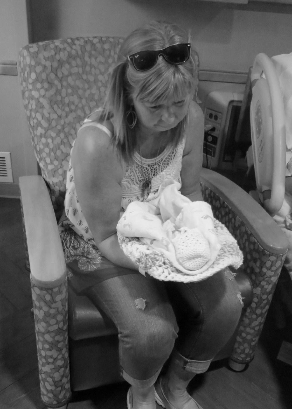 Aliza with her Grandma Potgeter.