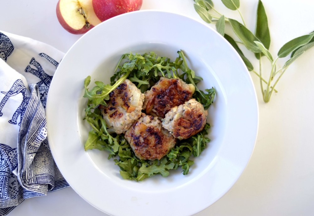 Paleo Morning Sage Chicken and Apple Patties