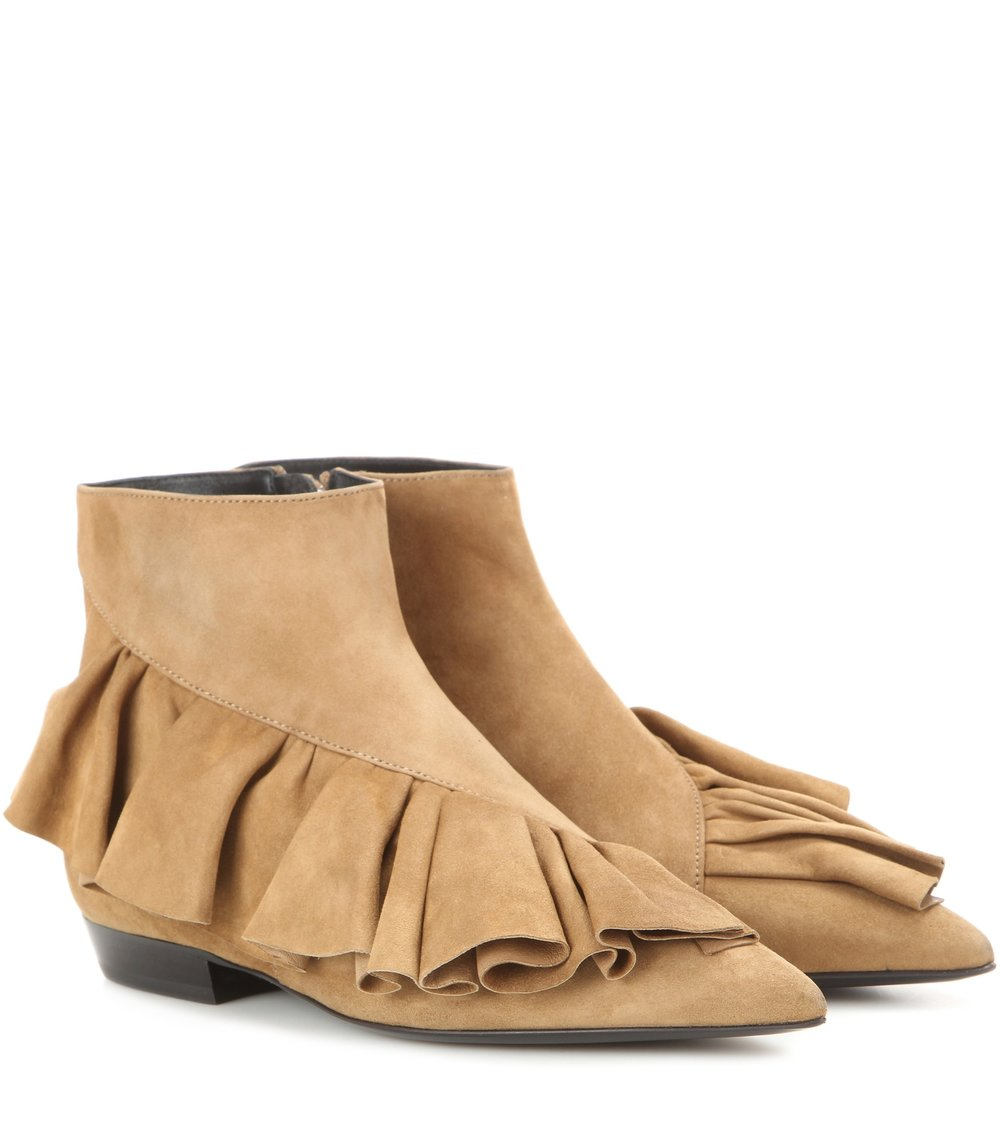 J.W. Anderson - Ruffle suede ankle boots