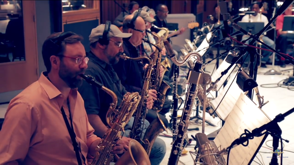 Eddy Mitchell Big Band Sessions saxophone section at   Capitol Records - Hollywood, CA May 2015