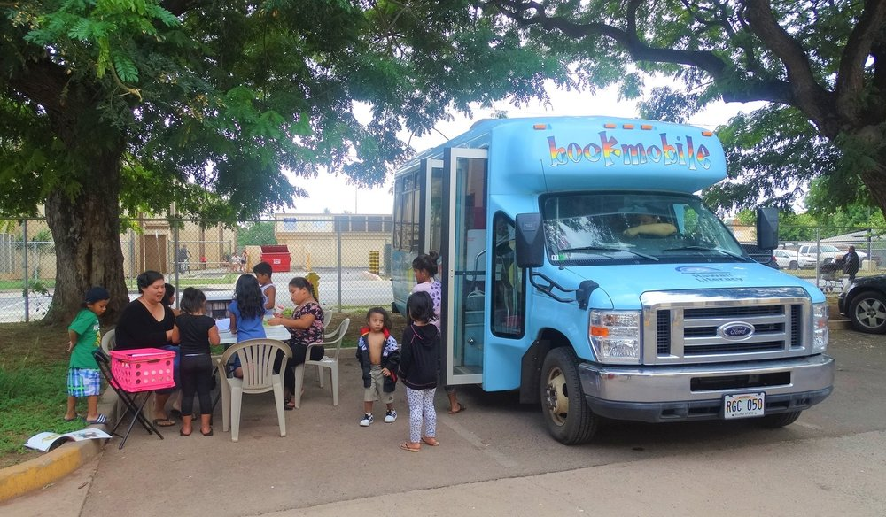 ON-CALL BOOKMOBILE ASSISTANT - The Bookmobile is based on the Leeward Coast.