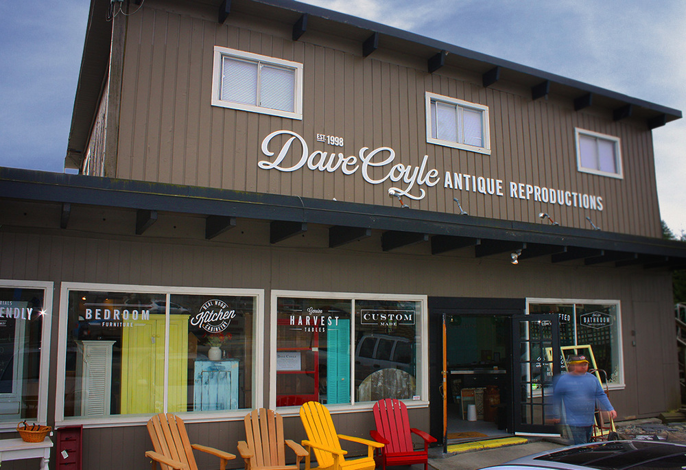 Dave Coyle's Beautiful Flagship Store in Gibsons, BC