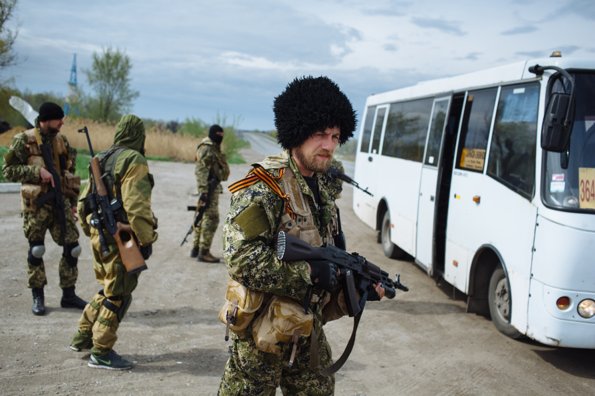 Russian fighters Donetsk