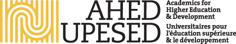 A logo (with sample website design) for what was initially a Toronto-based academic organization. The lettering has since been redrawn, but the  logo retained .