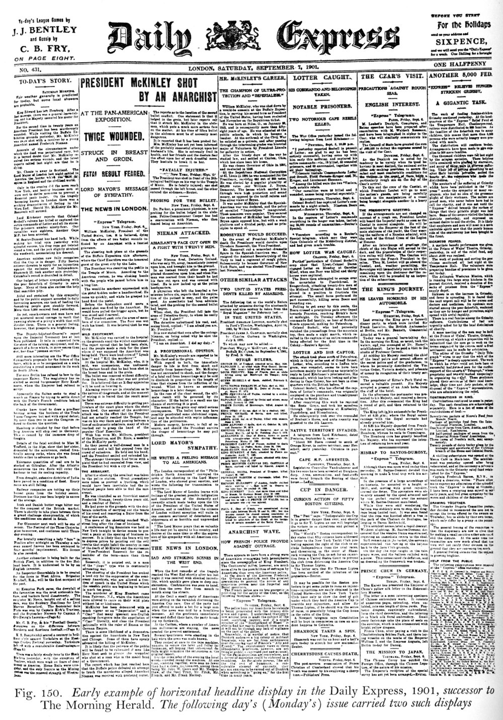 London Daily Express, September, 1901, the object of Morison's ire.