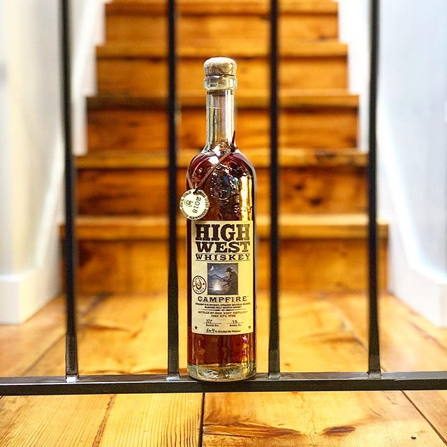 @drinkhighwest  Campfire Limited Release 2019 Barrel #727 - Bottle #75  Our friends @adrinkwith brought us a drink(s) from Sundance 2019! . . . . . . . . #greatclients  #greatfriends  #highwest #blend  #whiskey #bourbon #scotch  #parkcity #utah #sundance  #production #productioncompany #producer #dp #lights #camera #action #shotoniphone #portraitmode #reclaimedwood #stairs #havefun #drinkresponsibly #itsalwaysoctober