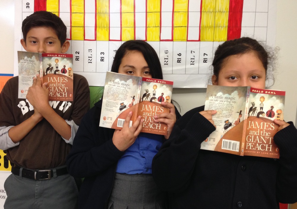 Robert, Sabine, and Dorothy from Equitas Academy in Los Angeles, California
