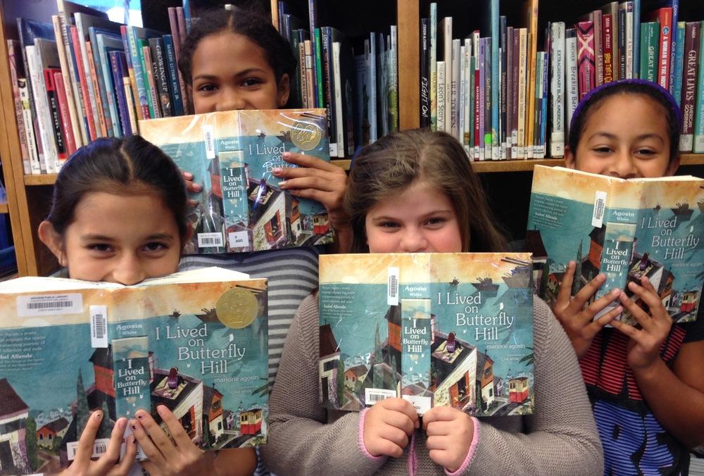 Nadia, Anna, Riya, and Nadia Trinidad from Sequoyah School in Pasadena, California