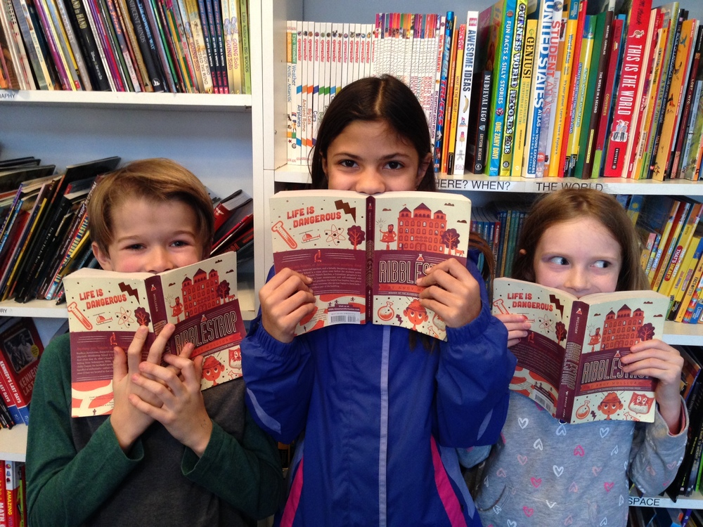 Jack, Carolina,and Eleanor at Watchung Booksellers in Montclair, New Jersey