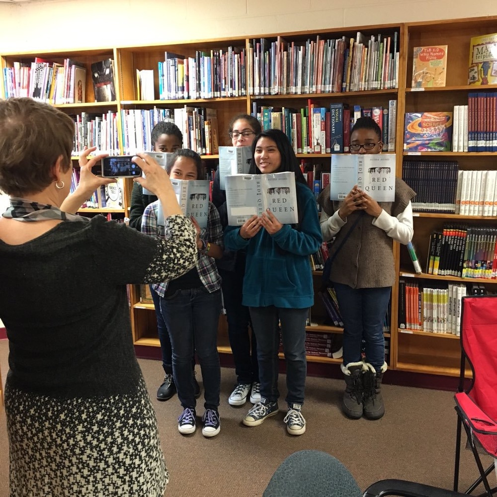 Newport Mill Middle School readers on Book Club for Kids