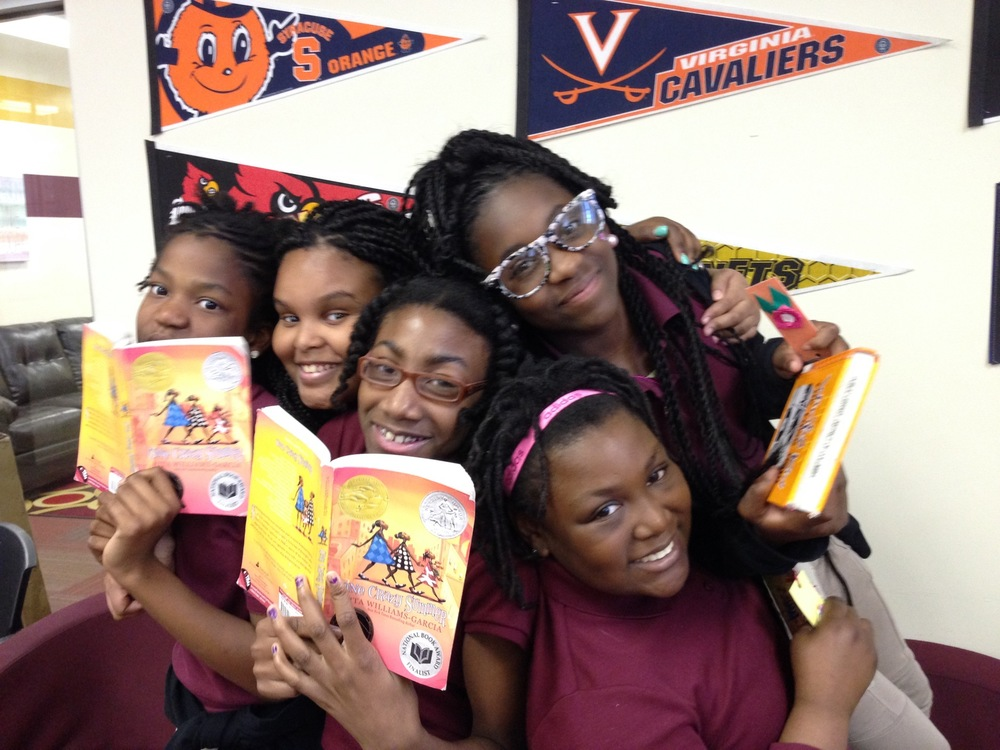 Crystal, Amaya, Kaiya, Jayla, and Japan from Jefferson Academy in Washington, DC