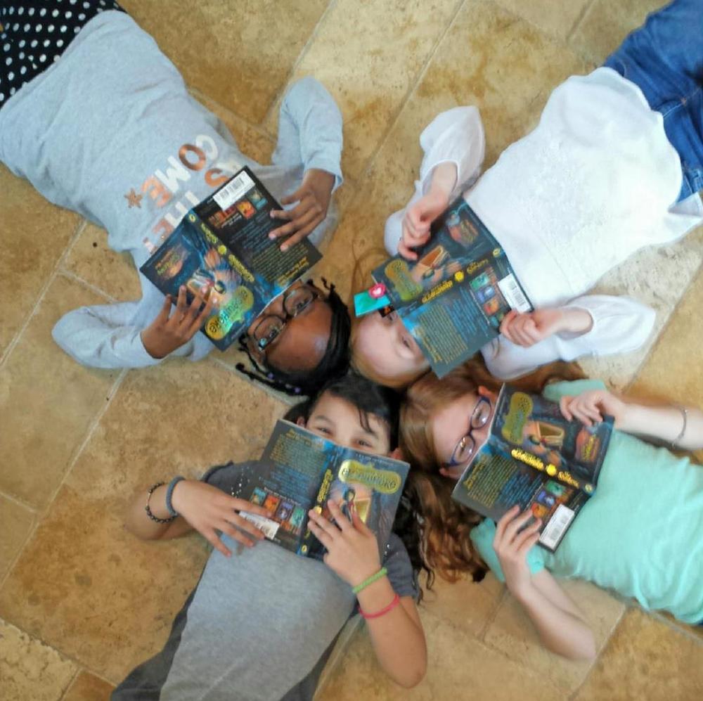 The Girlfriends Book Club - Nadia, Nicole, Makayla, and Aubrey -photo by Tonya Wright