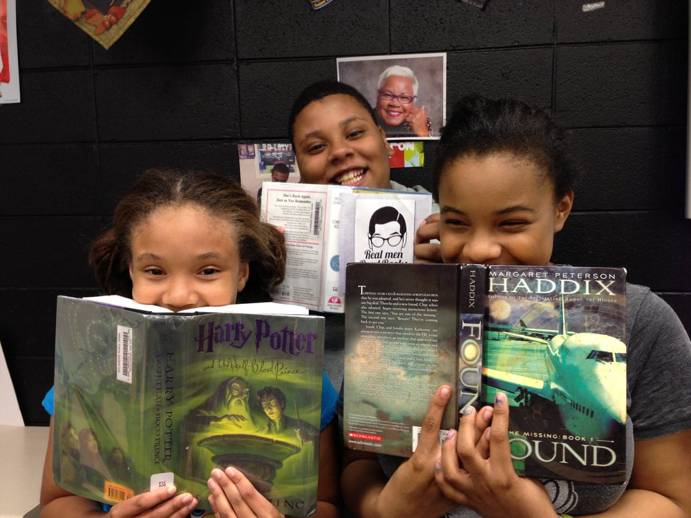 Readers from Chicago's Carter G. Woodson Charter School