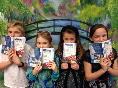 Alex, Sarah, Bell, and Stella at the Mamie Doud Eisenhower Library in Broomfield, Colorado