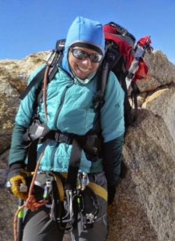 Climber and celebrity reader Christina Dale