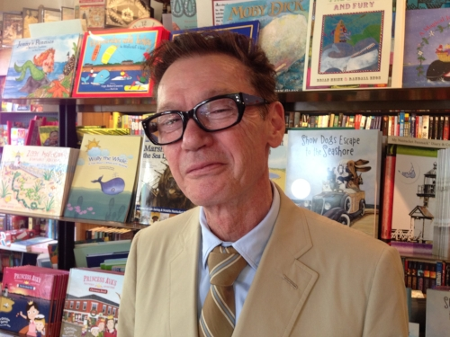 Writer Jack Gantos at the Nantucket Book Festival.