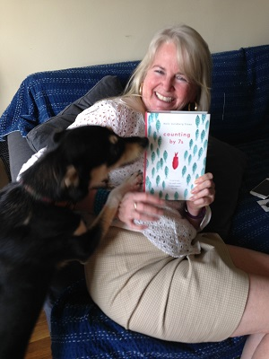 Writer Holly Goldberg Sloan with one of her biggest fans, Zorro from Puerto Rico!  Want to hear more from Holly? Click HERE.