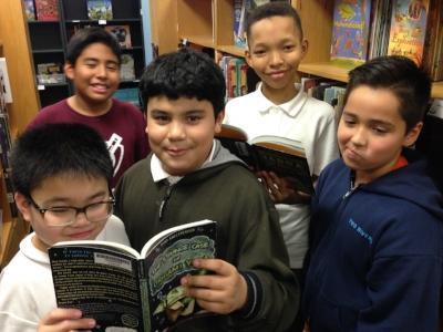 Kaiden, Francisco, Kevin, Jefferson, and Nicholas are fifth graders at Thomson and Two Rivers Elementary Schools in Washington, DC.