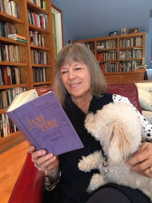 "Mimi Kennedy  is trying to convert her furry friend Hugo to a ""Jane Eyre"" lover."