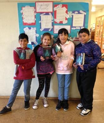Giovanni, Gloria, Brianna, and Salvador at Cienega Elementary School in Los Angeles