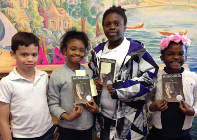 Our readers from Maury Elementary: Kevin, Rain, Aniyah, and Kelis