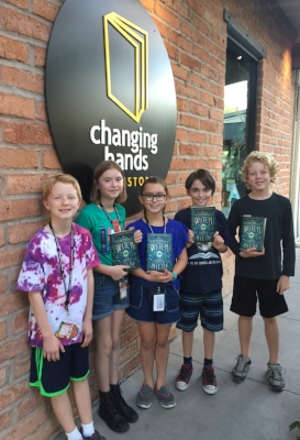 Club Read kids at Changing Hands bookstore (l-r) Jensen, Adeline, Giuliana, Ronan, and Wyatt