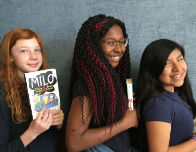 Hazel, Sierra, and Elizabeth from Eliot-Hine Middle School in Washington