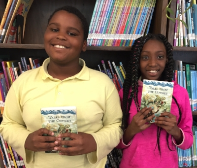 Rashard and Ziya from Kimball Elementary School in Washington, D.C.
