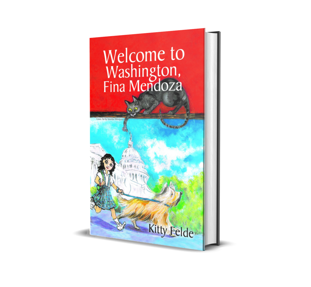 """Coming February 28, 2019: - Legend has it: anyone who sees the Demon Cat of Capitol Hill will be cursed with bad luck. 10-year-old Fina Mendoza just saw it. And the last thing her family needs right now is more bad luck.Fina just moved to Washington, D.C. to live fulltime with Papa, a Congressman from California. But after Fina encounters a mysterious cat, disasters follow. The only way for Fina to save her family from future """"cat""""astrophe is to solve the mystery of the Demon Cat of Capitol Hill.ISBN: 978-1-68433-223-6 / 185 PAGES / $17.95 / Ages 8-12www.blackrosewriting.com"""