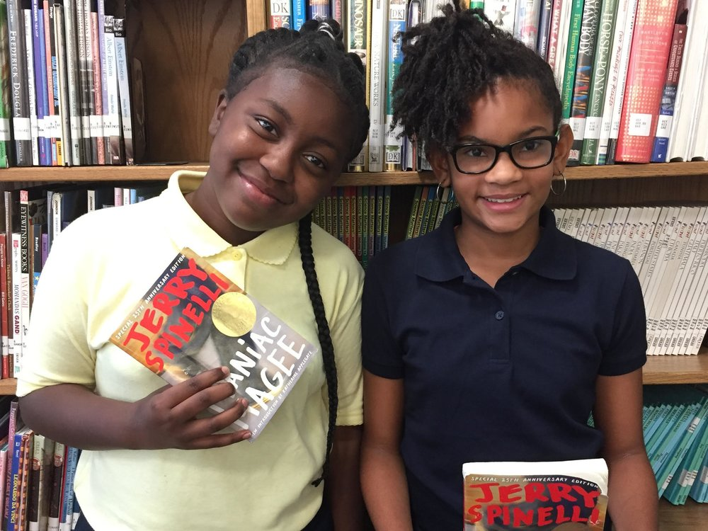 Sa'Mirror and Imani from  Anne Beers Elementary School  in Washington, DC