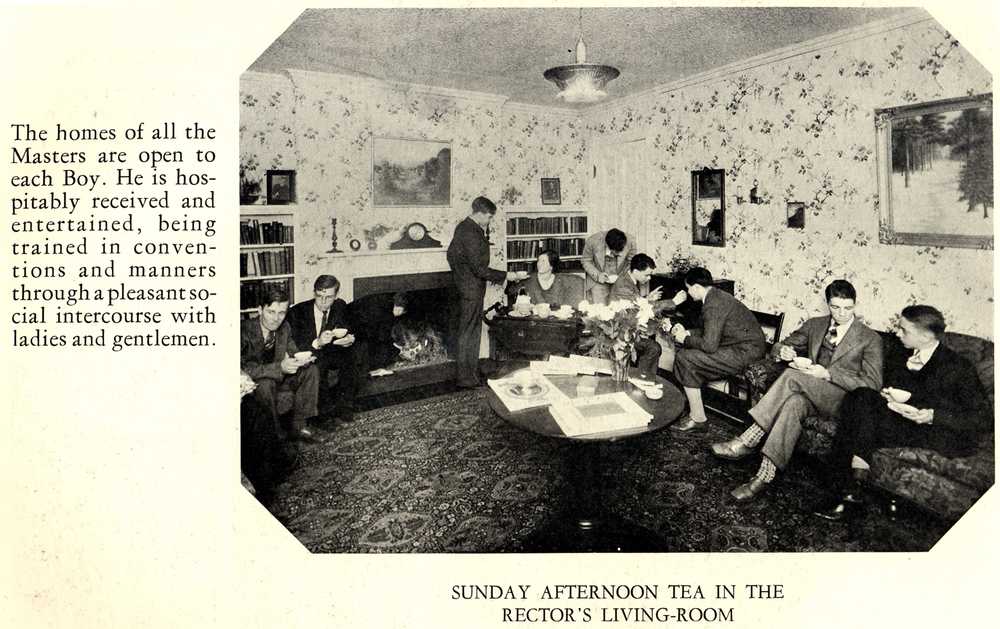Balancing work and life has always been a challenge at Holderness School as evidenced by mandatory Sunday afternoon teas circa 1929