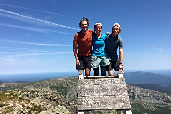 Group picture on Katahdin with great hiking folks, Jamy and Jonny.