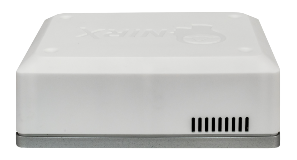 Side 2 of the NIRSport 2 shows one of its heat-dissipation vents (additional vent on bottom) which further improves system performance.