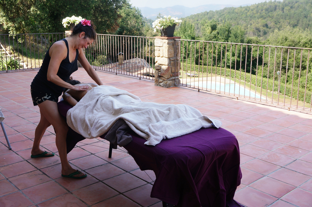 Enjoy a massage on the private terrace