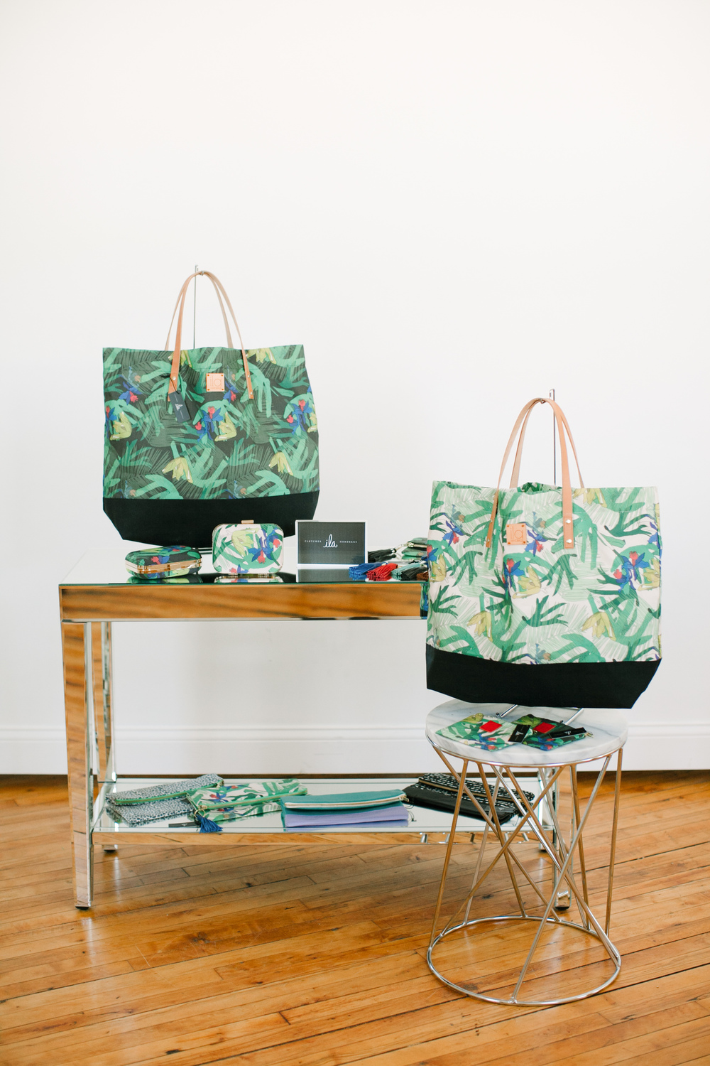 A variety of handbags from the  Botanical Collection  and  Soho Collection