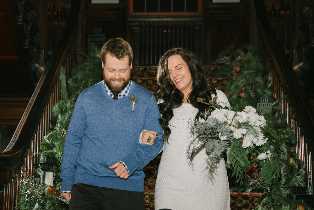 An unconventional woodland wedding in minnesota winter | Belle Noelle Events + Design